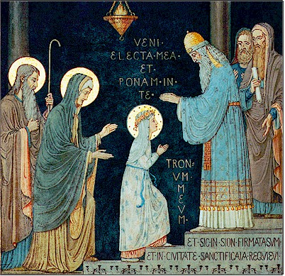Presentazione di Maria Vergine al Tempio dans images sacrée PresentMary